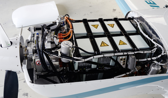 Pipistrel batteries and controller system used in Siemens aircraft