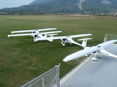 Pipistrel factory aircraft waiting to be test flown