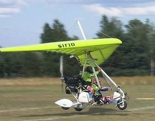 Pipistrel trike weight shift control