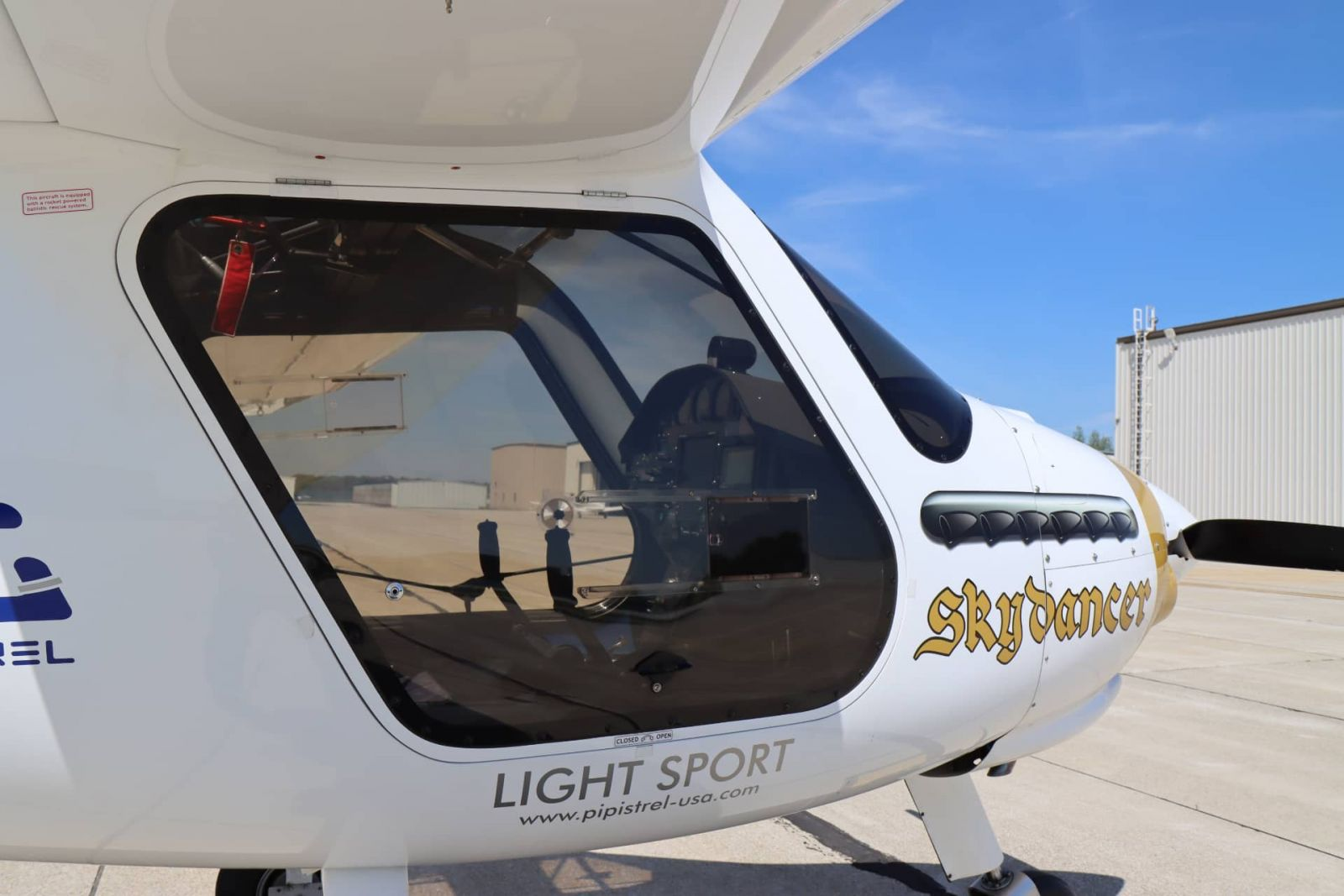 The Pipistrel Sinus aircraft features a side-by-side seating arrangement, which acommodated the training of a deaf student who needed to easily communicate with the flight instructor. (Purdue University photo/John O'Malley)