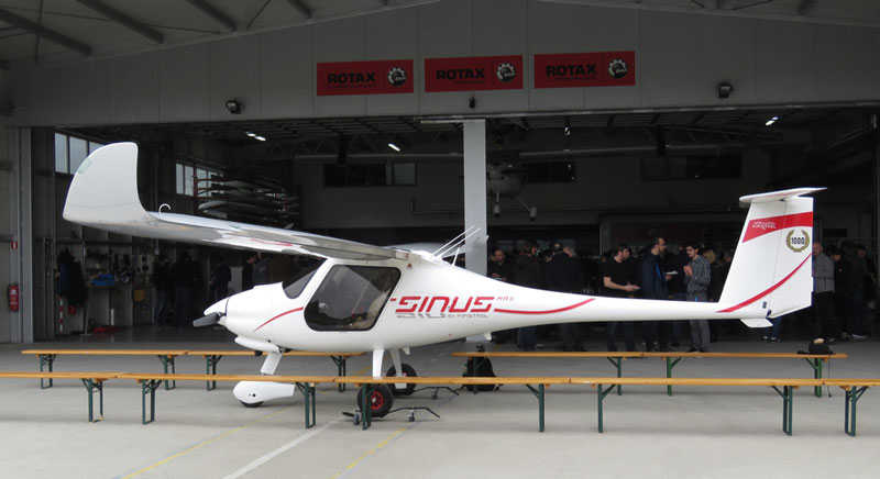 Pipistrel Sinus MAX the 1000th aircraft made at Pipistrel 2019