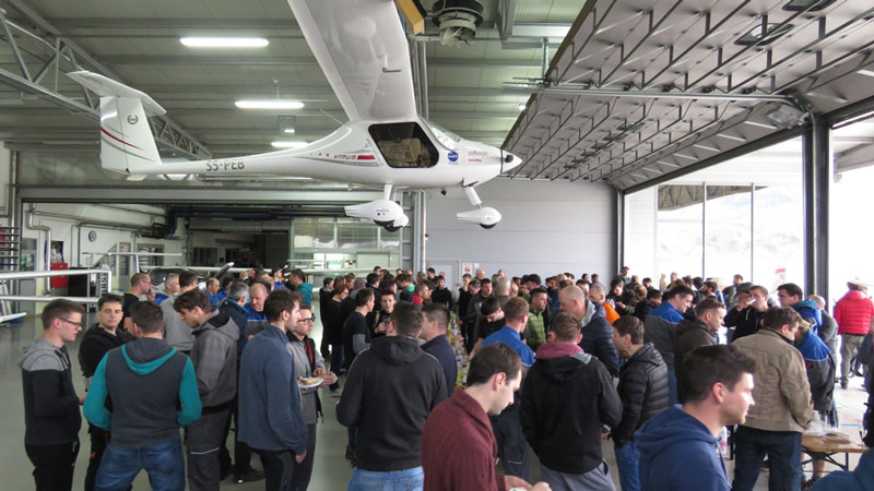 Celebrations following aircraft number 1000 being produced at Pipistrel