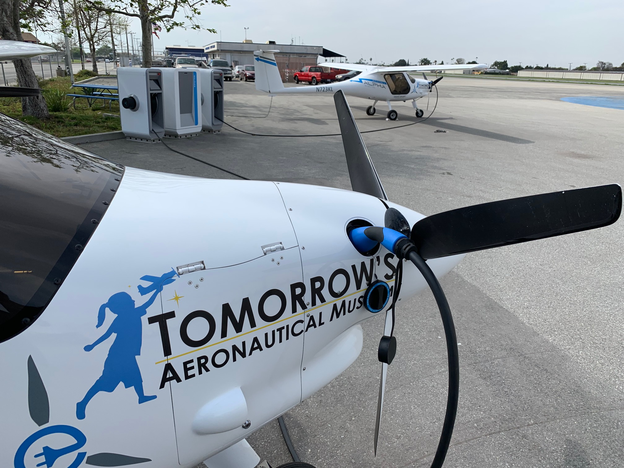 Tomorrow's Aeronautical Museum Pipistrel Alpha Electro aircraft