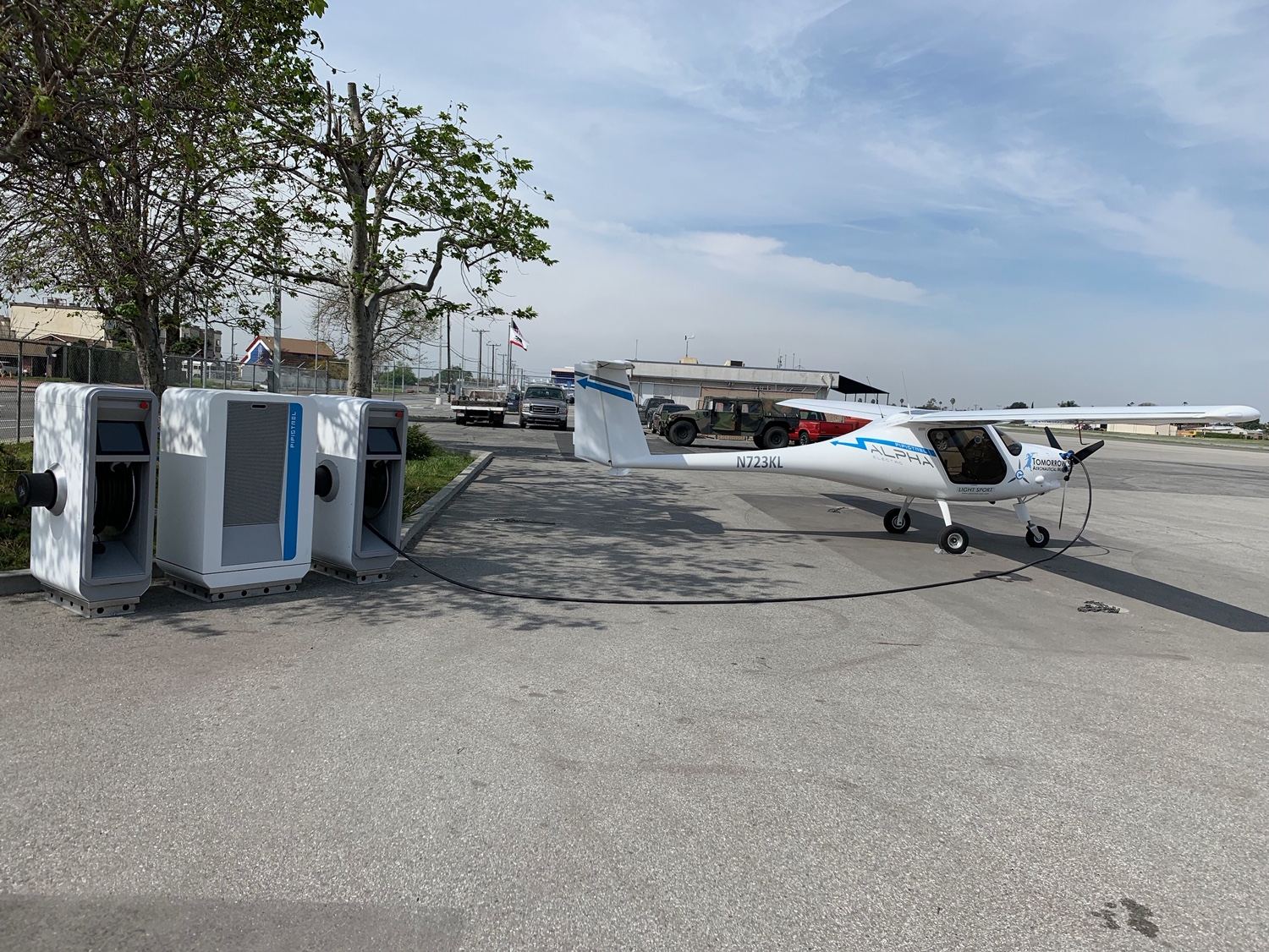 Pipistrel ALPHA Electro and the Pipistrel SkyCharge unit